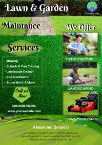 Lawn & Garden Services A4 template