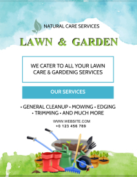 LAWN & GARDEN SERVICES FLYER AD Template