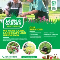 Lawn and Garden Care Instagram Post template