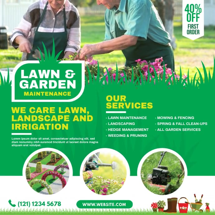Lawn and Garden Care Pos Instagram template