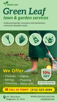 Lawn and Garden Care Digital flyer template