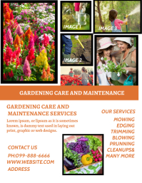 LAWN AND GARDEN MAINTENANCE FLYER