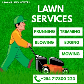 LAWN AND GARDENING SERVICE POSTER