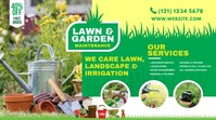 Lawn and Landscaping Pos Twitter template