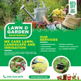 Lawn and Landscaping Publicación de Instagram template