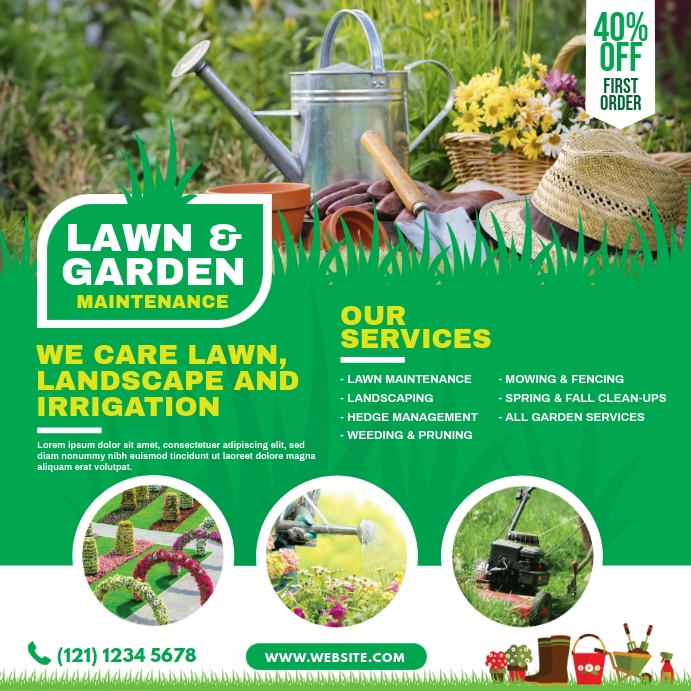 Lawn and Landscaping Instagram Plasing template