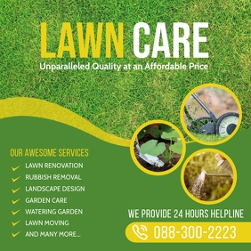 Lawn and Landscaping Cuadrado (1:1) template
