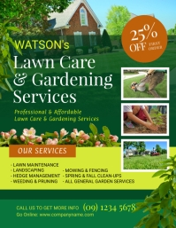 Lawn and Landscaping Flyer Template
