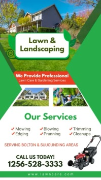 Lawn and Landscaping Service Digital Display