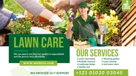 Lawn and Landscaping Services Ad Pos Twitter template