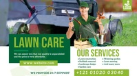 Lawn and Landscaping Services Pos Twitter template