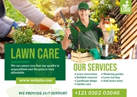 Lawn and Landscaping Services Postcard template