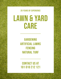 Lawn And Yard Care Service Flyer