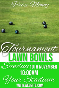 lawn bowls Poster template