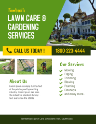 Lawn Care & Garden Landscaping Services Flyer Template