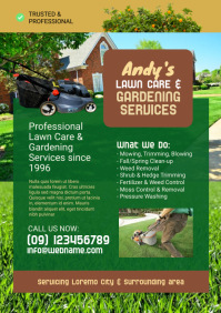 Lawn Care & Gardening Flyer Template