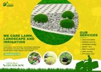 Lawn Care & Gardening Services Kartu Pos template