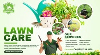 Lawn Care & Gardening Services Pos Twitter template