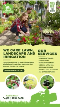 Lawn Care & Gardening Services Ecrã digital (9:16) template