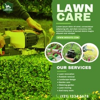 Lawn Care & Gardening Services Instagram Plasing template