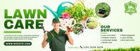 Lawn Care & Gardening Services Couverture Facebook template