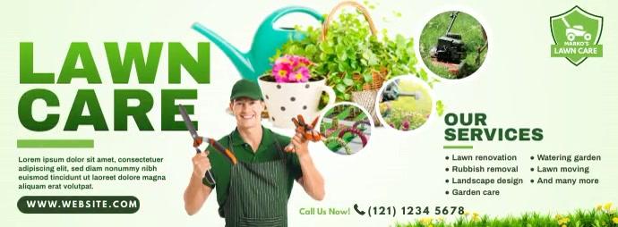 Lawn Care & Gardening Services Foto Sampul Facebook template
