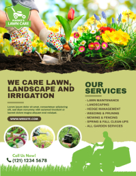 Lawn Care & Gardening Services Flyer