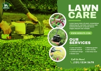 Lawn Care & Gardening Services Postcard Carte postale template