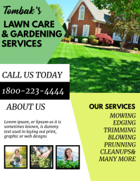 LAWN CARE AND GARDENING FLYER