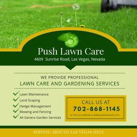 Lawn Care and Gardening Service Advert
