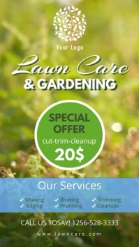 Lawn Care and Gardening Service Digital Display