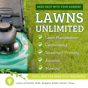 Lawn Care and Landscaping Instagram Ad
