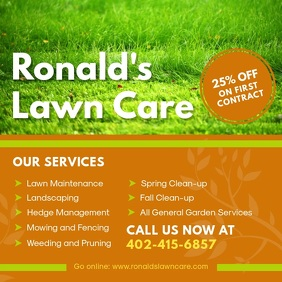 Lawn Care and Lawn Mowing Advertisement