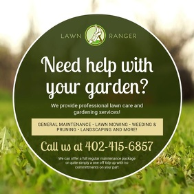Lawn Care and Prunning Advert Design