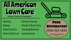 Lawn Service Business Card Templates Postermywall
