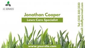 Lawn care business card Kartu Bisnis template