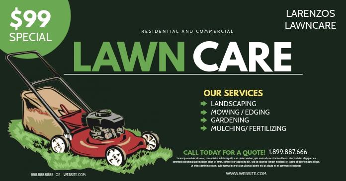 Lawn Care รูปภาพที่แบ่งปันบน Facebook template