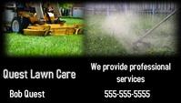 Lawn Care Visitenkarte template
