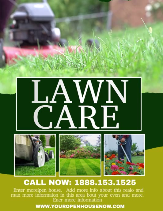 LAWN CARE Flyer (US-Letter) template