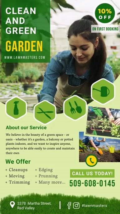 Lawn care Digital Flyer template