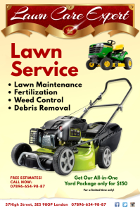 Lawn Care Expert Poster template