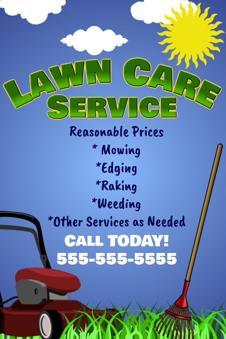 Lawn Care Flyer