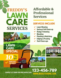 Lawn Care Flyer Pamflet (Letter AS) template