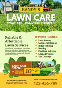 Lawn Care Flyer A4 template