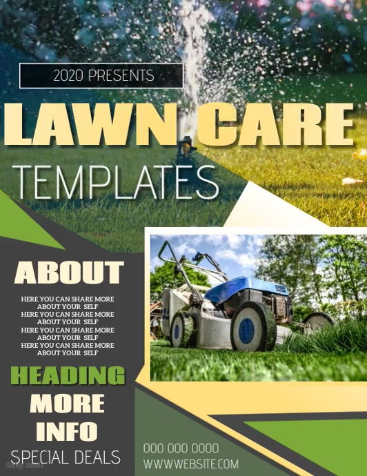 LAWN CARE FLYER POSTER TEMPLATE