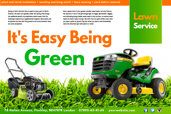 create lawn care business flyers  it u0026 39 s easy