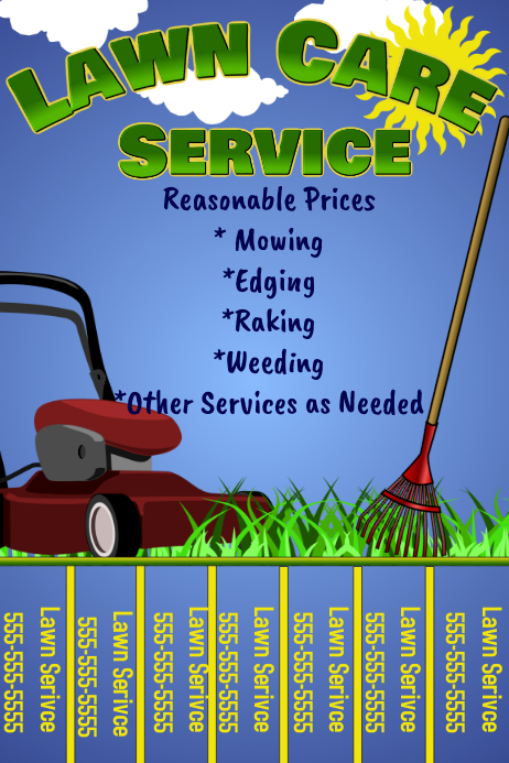 lawn care flyer w  tabs template