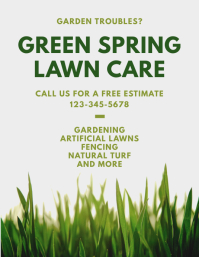 Customize 560 Lawn Service Flyer Templates Postermywall