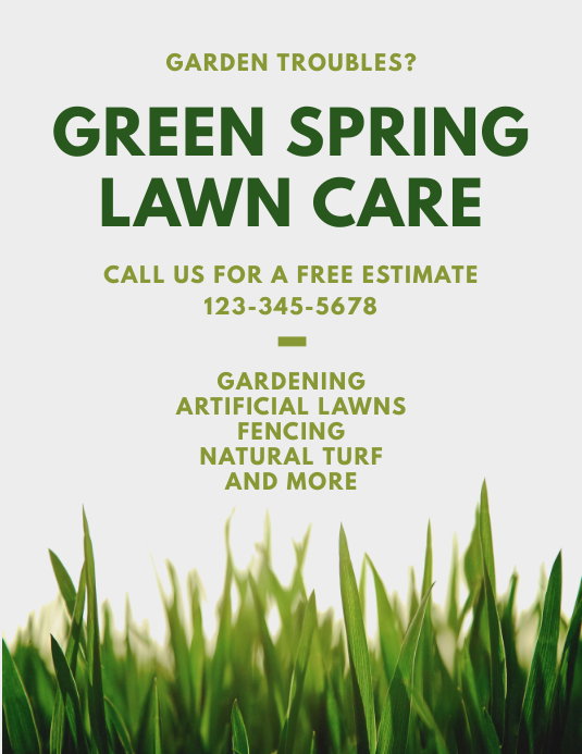 Lawn Care Gardening Flyer