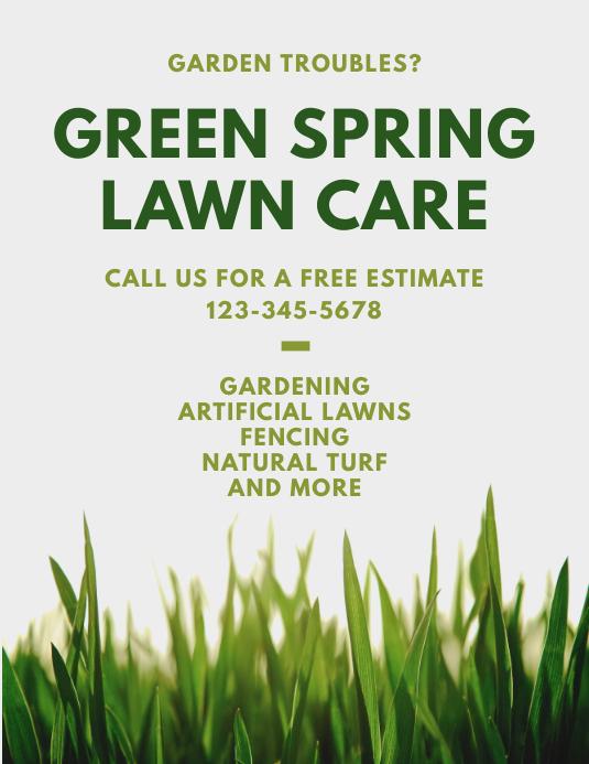 Lawn Care Gardening Flyer